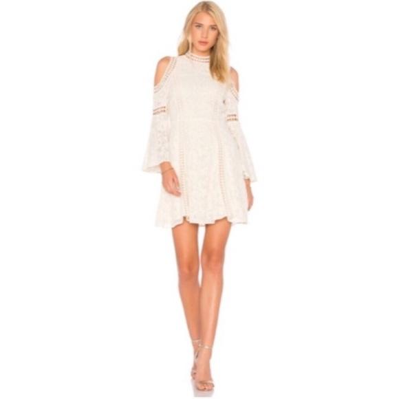 5b18e5f1a7df Alice + Olivia Enya Crochet Cold-Shoulder Dress